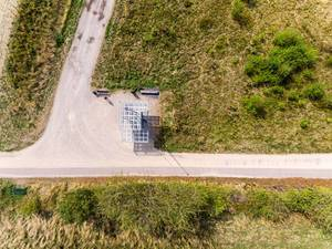 Luftbild des Turm Blickfang in der Nähe des Max-Planck-Instituts. Vogelperspektive