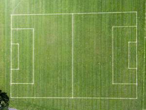 Luftbild: Fußballplatz