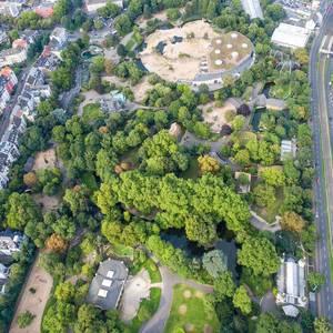 Luftbild: Kölner Zoo und Elefantengehege