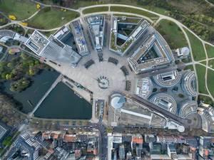 Luftbild: Mediapark Köln