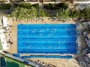 Luftbild: Olympischer Outdoor Pool am Hotel & Spa Ferrer Janeiro