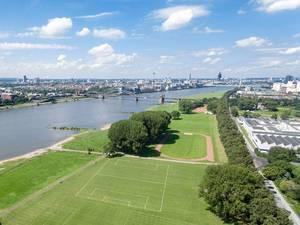 Luftbild: Pollerwiesen und der Rhein in Köln