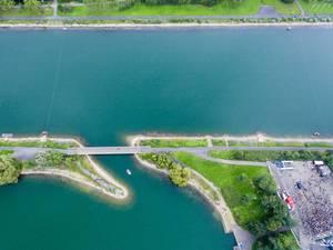 Luftbild: Regattabahn in Köln am Fühlinger See