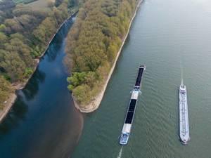 Luftbild: Siegmündung in den Rhein