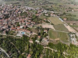 Luftbild von Afitos in Griechenland