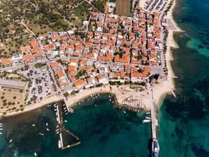 Luftbild von Ouranoupoli, Griechenland