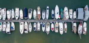 Luftbild: Yachten von oben
