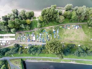 Luftbildaufnahme des gamescomCamp - Gamescom 2017, Köln