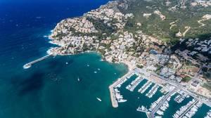 Luftbildaufnahme von Puerto de Andraitx, Mallorca