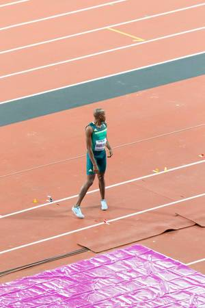 Luvo Manyonga (Weitsprung) bei den IAAF Leichtathletik-Weltmeisterschaften 2017 in London