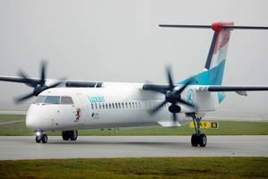 Luxair Airlines Flugzeug am Flughafen München