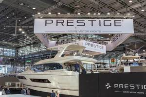 Luxurious yachts at Prestige