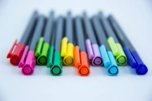 Macro of Colorful Markers