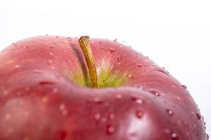 Macro of delicious red Apple