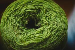 Macro Of Green Yarn Ball (Flip 2019)