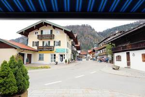 Main street in Reit im Winkl, German mountain village