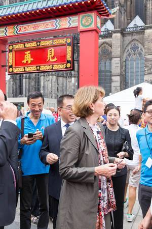 Major Henriette Reker at Chinafest in Cologne