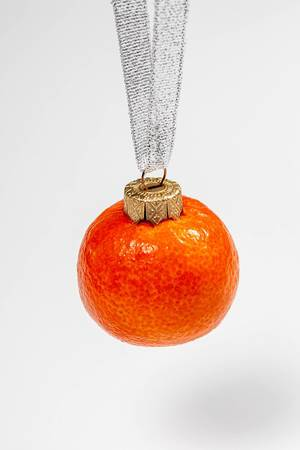 Mandarin fruit-Christmas toy for Christmas tree decoration (Flip 2019)