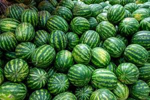 Many ripe watermelons in the marketplace (Flip 2019)