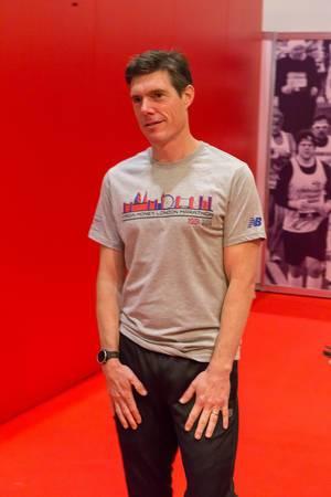 Marathon-Coach Martin Yelling auf der London Marathon Messe