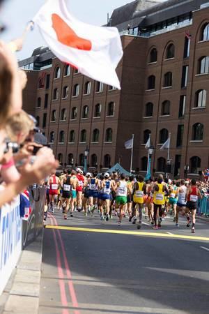 Marathon Finale bei den  IAAF Leichtathletik-Weltmeisterschaften 2017 in London