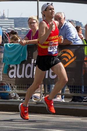 Marathon runner Tony Payne - London Marathon 2018
