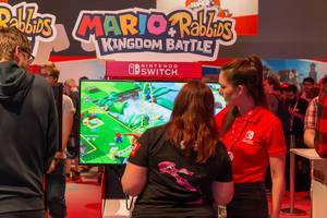 Mario + Rabbids Kingdom Battle Gaming-Ecke - Gamescom 2017, Köln