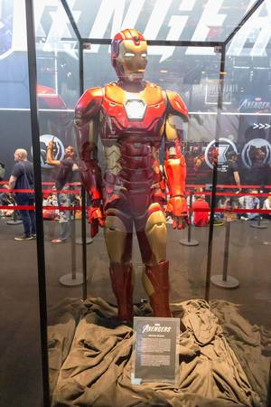 Marvel Avengers Iron Man costume, exhibited at the German games fair Gamescom