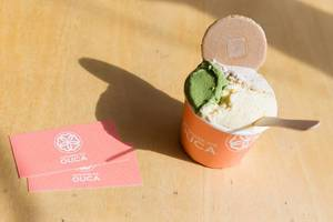 Matcha Ice Cream in the sun