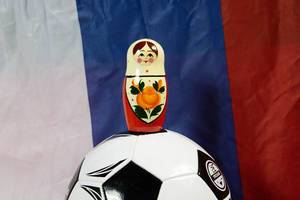 Matryoshka doll on soccer ball