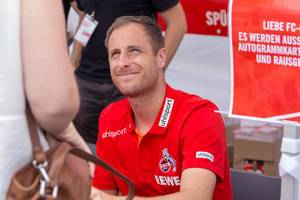 Matthias Lehmann während der Autogrammstunde