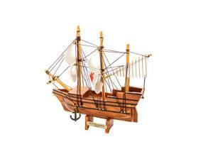 Mayflower ship isolated on white background