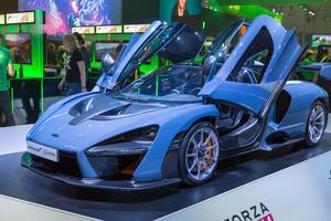 McLaren Senna racing car at Forza Horizon 4 booth