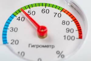 Measure humidity hygrometer close up