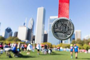 Medaille zur Feier des 40. Jubiläums des Chicago Marathons