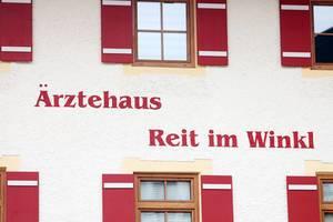 Medical center written in a house in Reit Im Winkl, Germany