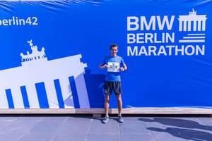 Meine Startnummer beim Berlin Marathon