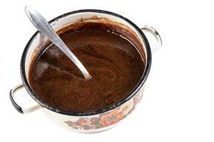 Melted Chocolate in the pot with spoon (Flip 2019)