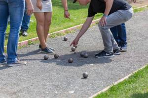 Men playing boules in Gorky Park