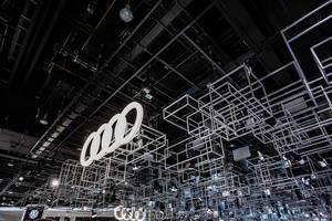 Messestand von Audi bei der IAA 2017 in Frankfurt am Main