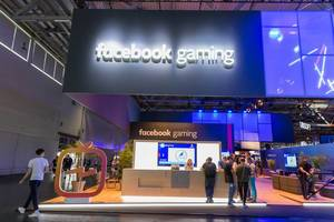 Messestand von Facebook Gaming
