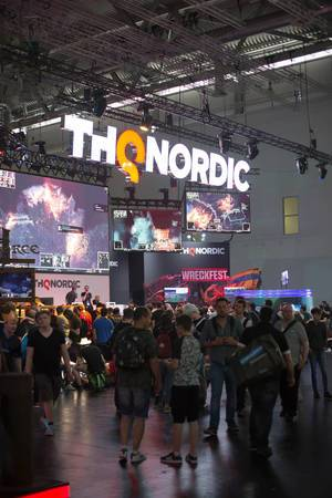 Messestand von Thq Nordic