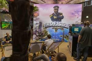 Messestand von Tropico 6 auf der Gamescom