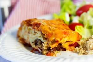 Mexikanische Casserole mit Käse