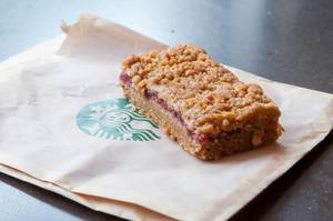 Michigan Cherry Oat Bar at Starbucks
