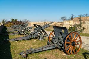 Military Museum with old Canons from World War One (Flip 2020)