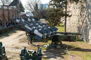 Military Museum with old Rockets