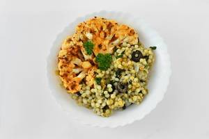 Millet with roasted cauliflower