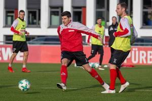 Milos Jojic und Matthias Lehmann beim Training am 30.01.2018