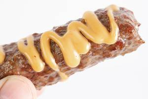 Minced meat Kebab with Mustard Sauce